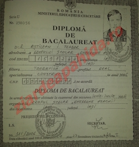 diploma bacalaureat
